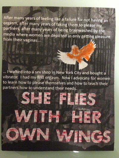 "History Postcard ""She Flies With Her Own Wings"""