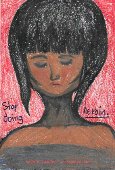 High School Postcard - Stop Using Heroin